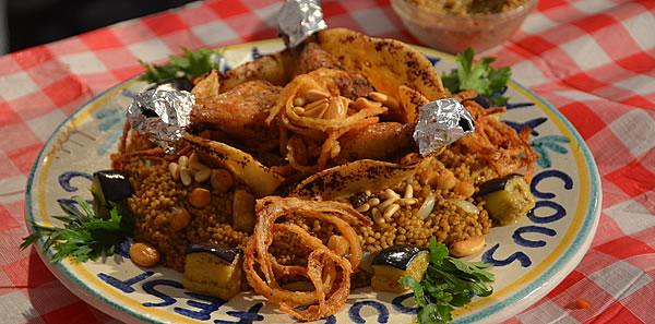 Cous cous palestinese con ceci & pollo.
