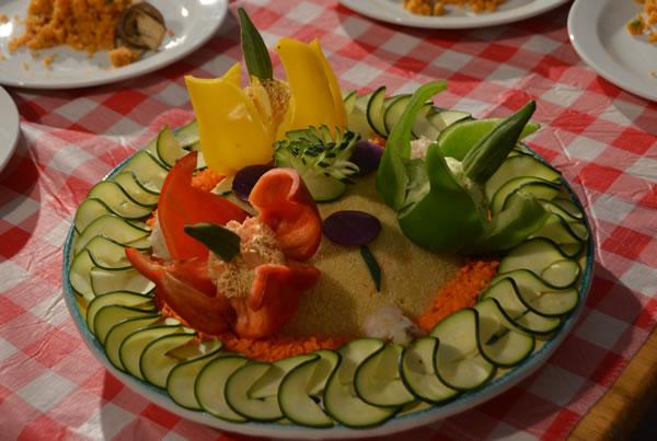 Cous cous senegalese con filetto di merluzzo e verdure