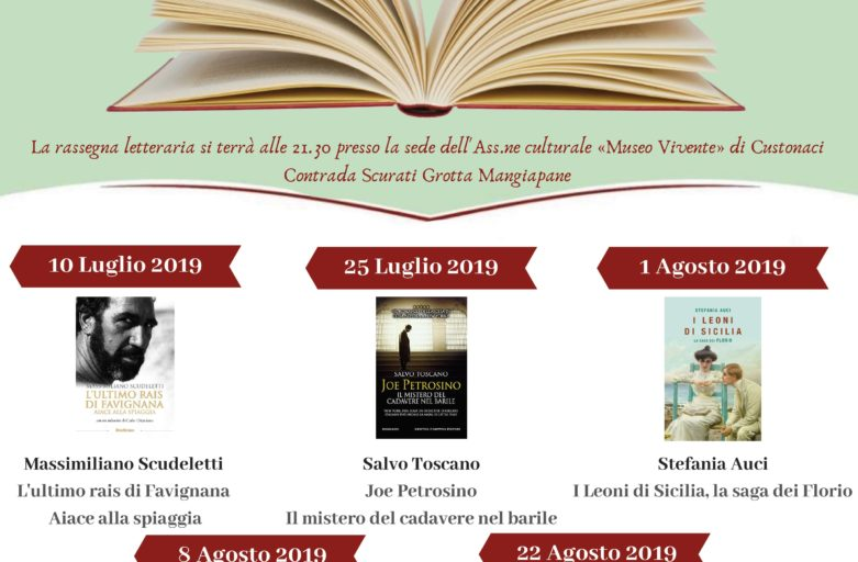 «Un Borgo di Libri ed Autori»  alle «Grotte Mangiapane» la nuova rassegna letteraria